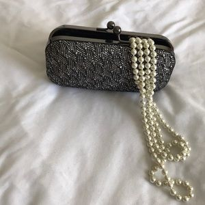 Silver hardshell clutch for prom or night out